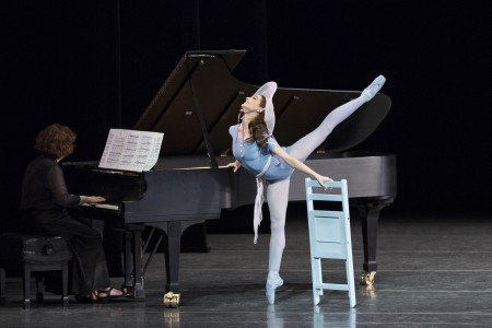 "Lauren Lovette in Jerome Robbins's ""The Concert"" Photo by Paul Kolnik"