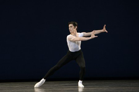 "Sean Suozzi in  George Balanchine's ""The Four Temperaments"" Photo by Paul Kolnik"