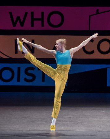 "Claire Kretzschmar in Justin Peck's ""Easy"" Photo by Paul Kolnik"