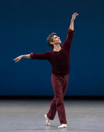 "Joaquin de Luz in Jerome Robbins's ""A Suite of Dances"" Photo by Paul Kolnik"