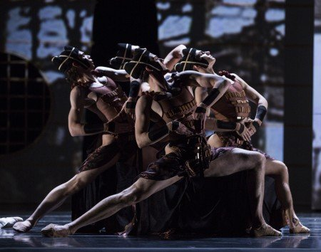 "Pacific Northwest Ballet dancers in Yuri Possokhov's ""RAkU"" Photo by Angela Sterling"