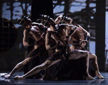 "Pacific Northwest Ballet dancers in Yuri Possokhov's ""RAkU"" Photo by Angela Sterling"