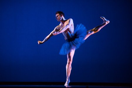 "Oregon Ballet Theatre dancer Peter Franc in Darrell Grand Moultrie's ""Fluidity Of Steel"" Photo by Jingzi Zhao."