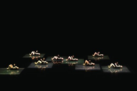 "Oregon Ballet Theatre dancers in Jiří Kylián's ""Falling Angels"" Photo by Emily Nash."