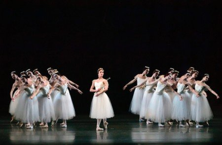 "Devon Tesucher and members of American Ballet Theatre in ""Giselle"" Photo by Gene Schiavone"