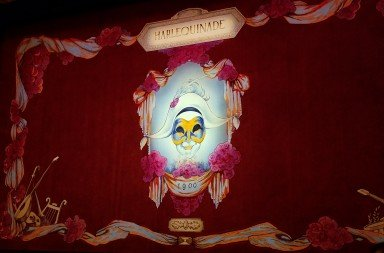 "The Act Curtain for American Ballet Theatre's ""Harlequinade"" Designed by Robert Perdziolla   Photo by Jerry Hochman"