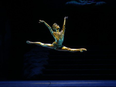"Joseph Gorak in Natalia Makarova's staging of ""La Bayadere"" Photo by Marty Sohl"