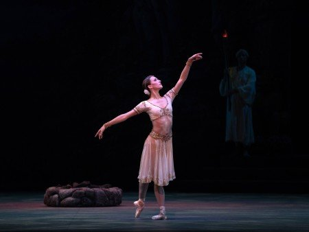 "Devon Teuscher  in Natalia Makarova's staging  of ""La Bayadère""  Photo by Rosalie O'Connor"