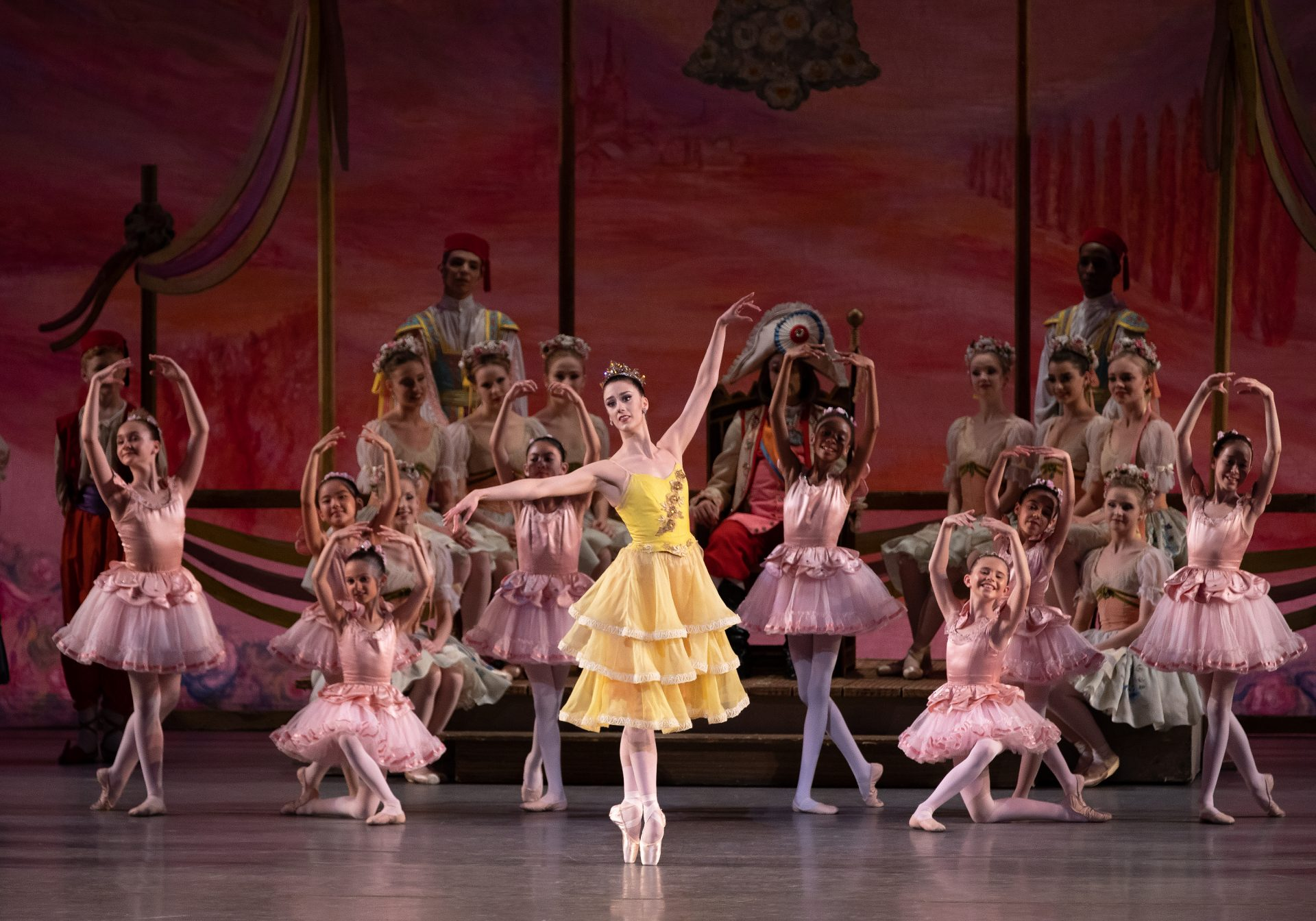 "Mary Elizabeth Sell and students from the School of American Ballet in New York City Ballet's production of ""Coppelia"" Photo by Erin Baiano"