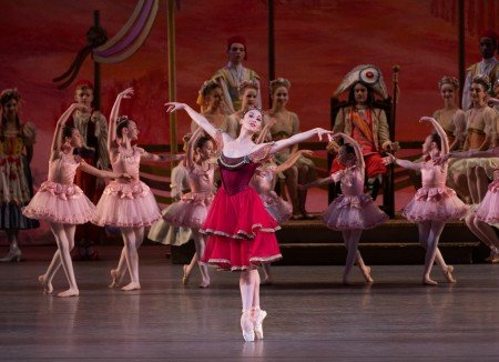 "Meagan Mann and students from the School of American Ballet in New York City Ballet's production of ""Coppelia"" Photo by Erin Baiano"