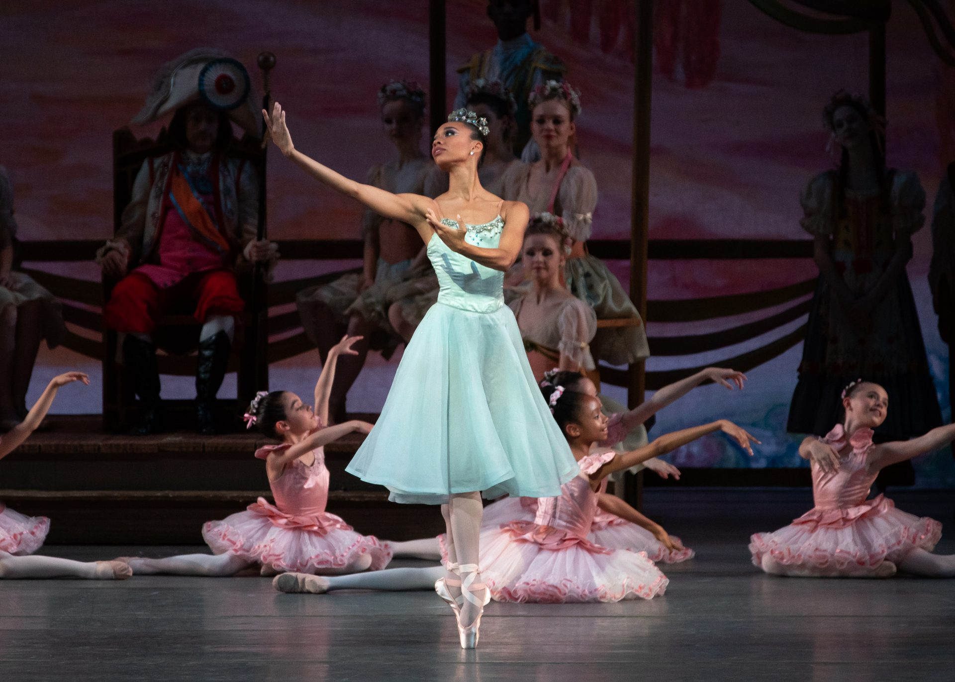"""Olivia Boisson and students from the School of American Ballet in New York City Ballet's production of """"Coppelia"""" Photo by Erin Baiano"""