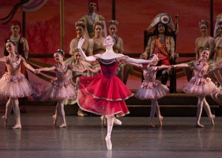 "Sarah Adam and students from the School of American Ballet in New York City Ballet's production of ""Coppelia"" Photo by Erin Baiano"