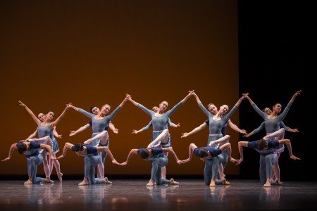 "Pacific Northwest Ballet dancers in Justin Peck's ""Year of the Rabbit"" Photo by Angela Sterling"