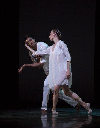 "Pacific Northwest Ballet dancers Elizabeth Murphy and Karel Cruz in Benjamin Millepied's ""Appassionata"" Photo by Angela Sterling"