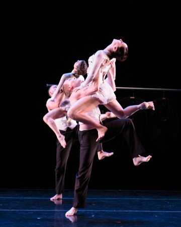 """Members of RIOULT Dance NY in """"Les Noces"""" Photo by Eric Bandiero"""