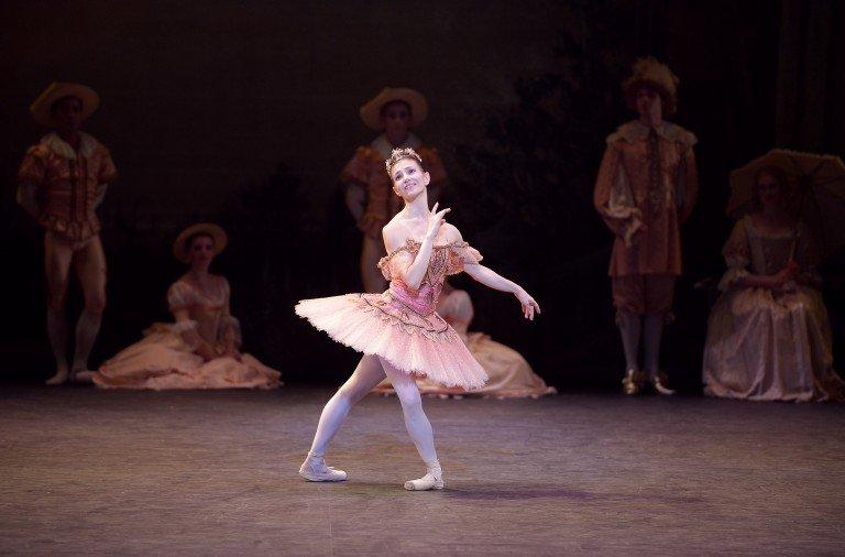 Alina Cojocaru as Princess Aurora in The Sleeping Beauty Photo: Laurent Liotardo