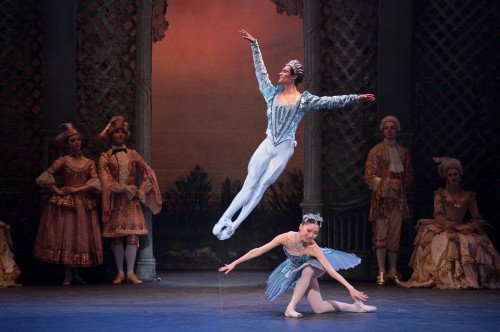 Daniel McCormick as The Bluebird and Rina Kanehara as Princess Florine in The Sleeping Beauty Photo: Laurent Liotardo