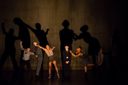 """Whim W'Him dancers in Olivier Wevers's """"Silent Scream"""" Photo courtesy of Whim W'him"""