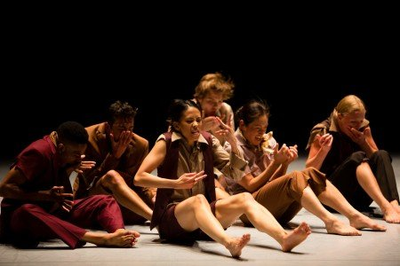 "Whim W'Him dancers in Danielle Agami's ""Duck Sitting"" Photo courtesy of Whim W'him"