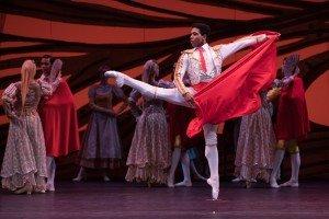 Ballet Nacional De Cuba's Ariel Martinez in Don Quixote, photo by Teresa Wood