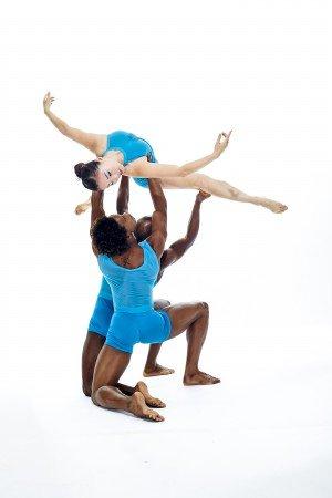 "Members of Carolyn Dorfman Dance in ""Waves"" Photo by Whitney Browne"