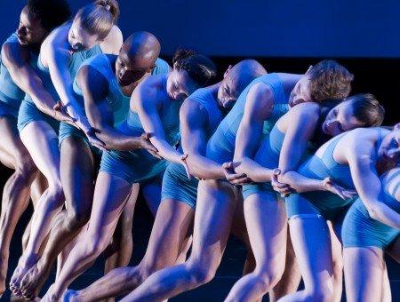 "Members of Caroline Dorfman Dance in ""Waves"" Photo by Daniel Hedden"