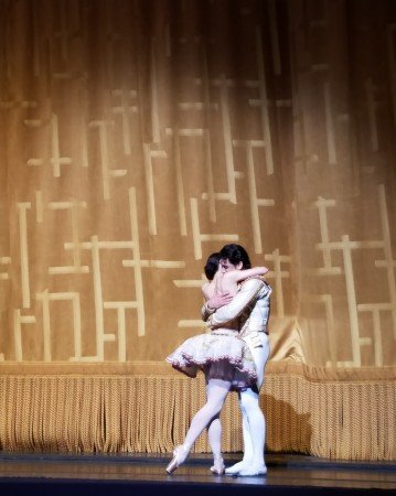 "Sarah Lane and Herman Cornejo during the curtain call of American Ballet Theatre's ""Don Quixote"" Photo by Jerry Hochman"