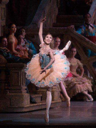 """Kaho Ogawa and members of American Ballet Theatre in a prior performance of """"Don Quixote"""" Photo by Rosalie O'Connor."""