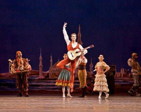 "James Whiteside and members of American Ballet Theatre in a prior performance of ""Don Quixote"" Photo by Renata Pavam"
