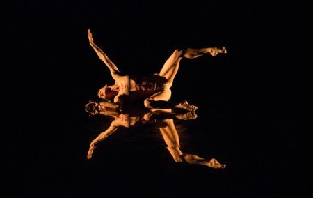 """MOMIX dancer Sarah Nachbauer in """"Echoes of Narcissus"""" Photo by Charles Azzopardi"""