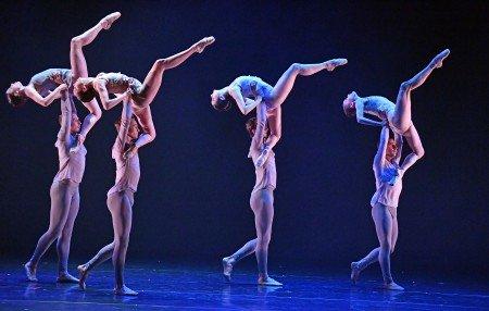"Barak Ballet dancers in a prior performance of Nicolas Blanc's ""Tableaux Vivants"" Photo by Dave Friedman"