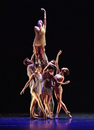 "Barak Ballet dancers in a prior performance of Nicolas Blanc's ""Tableaux Vivants"" Photo by Dave Friedman"