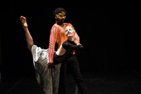 """Jane Cracovaner and Elijah Laurant  in Joshua Beamish's """"The Masque of the Red Death"""" Photo by Craig Foster"""