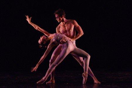 "Dimensions Dance Theatre of Miami dancers Gabriela Mesa and Fabian Morales in Gerald Arpino's ""Light Rain"" Photo by Simon Soong"