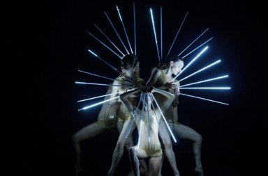 "MOMIX dancers in ""Light Reigns""  Photo by Charles Azzopardi"