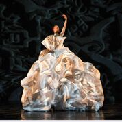 """Jennifer Chicheportiche and MOMIX dancers in """"Paper Trails"""" Photo by Max Pucciarello"""