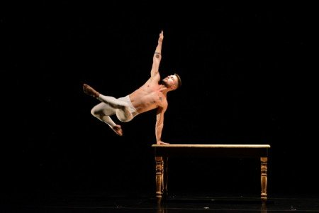 """MOMIX dancer Jason Williams in """"Table Talk"""" Photo by Equilibre Monaco"""