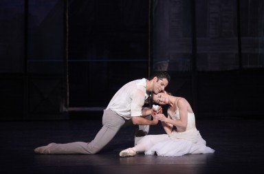 "Sarasota Ballet's Victoria Hulland  and guest principal Marcelo Gomes  in Sir Frederick Ashton's  ""The Two Pigeons""  Photo by Frank Atura"