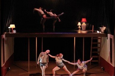 """Members of Coriolis Dance  in Christin Call's """"What is Home""""    Photo by Bret Doss Photography"""