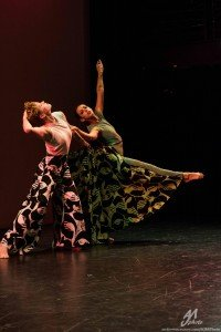"LL Moves dancers  (l-r)  Erin Arbuckle  and Michelle Siegel  in Lindsey Miller's  ""Attachments"" Photo by  Andrew J. Mauney"
