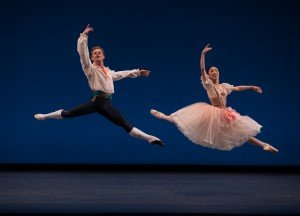 "Derek Dunn and Ji Young Chae in the pas de deux from August Bournonville's ""Flower Festival in Genzano"" Photo by Rosalie O'Connor"