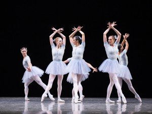 """Pacific Northwest Ballet dancers in Jerome Robbins's """"The Concert (or The Perils of Everyone)"""" Photo by Angela Sterling"""