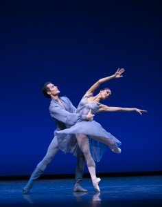 """Pacific Northwest Ballet dancers Noelani Pantastico and Seth Orza in Jerome Robbins's """"Other Dances"""" Photo by Angela Sterling"""