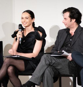 "Diana Vishneva and Tobias Gremmler at the ""Meet the Artists"" program at the Guggenheim Museum. Photo by Brian William Waddell"