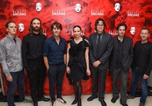"(l-r) Thijs de Vlieger, Bart Hess, Edward Clug, Diana Vishneva, Andrei Severny, Tobias Gremmler, and Laurent Fort at ""Meet The Artists"" program at the Guggenheim Museum Photo by Presley Ann/PMC"