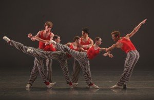 "Members of American Ballet Theatre in Twyla Tharp's ""In the Upper Room"" Photo by Marty Sohl"
