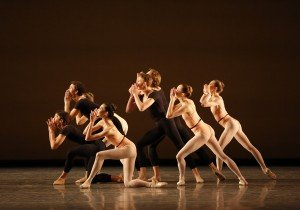 """ABT Apprentices and members of ABT Studio Company in Lauren Lovette's """"Le Jeune"""" Photo by Marty Sohl"""