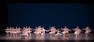 "Members of American Ballet Theatre in George Balanchine's ""Symphonie Concertante"" Photo by Rosalie O'Connor."