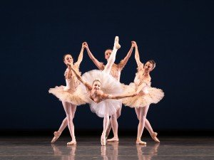 """Christine Shevchenko and members of American Ballet Theatre in George Balanchine's """"Symphonie Concertante"""" Photo by Rosalie O'Connor"""