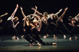"Members of Paul Taylor Dance Company in ""Promethean Fire"" Photo by Paula Lobo"